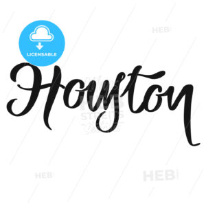 Houston calligraphic lettering - Hebstreits