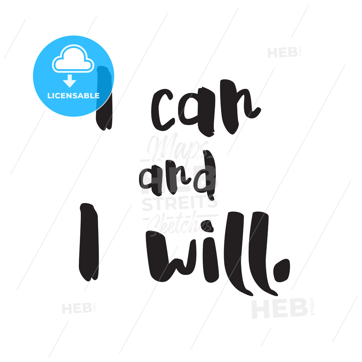 I can and i will vector Lettering - Hebstreits