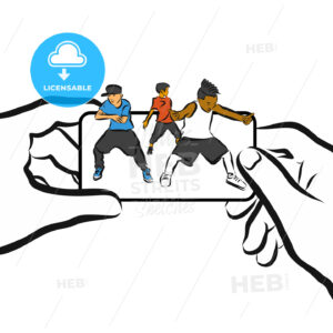 Kids dance on Cellphone, Concept App Design, - Hebstreits