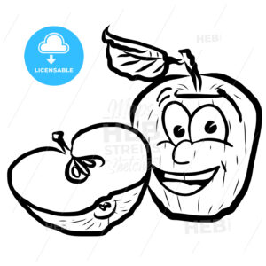 Laughing Apple Vector Illustration Fruits - Hebstreits