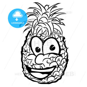 Laughing Pineapple Vector Illustration Fruit - Hebstreits