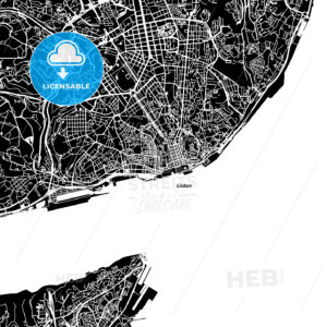 Lisbon Vector Map - HEBSTREIT's Sketches