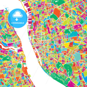 Liverpool Colorful Vector Map - Hebstreits