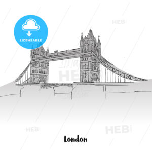 London Tower Bridge Greeting Card - Hebstreits