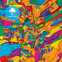 Luxembourg Colorful Vector Map on Black