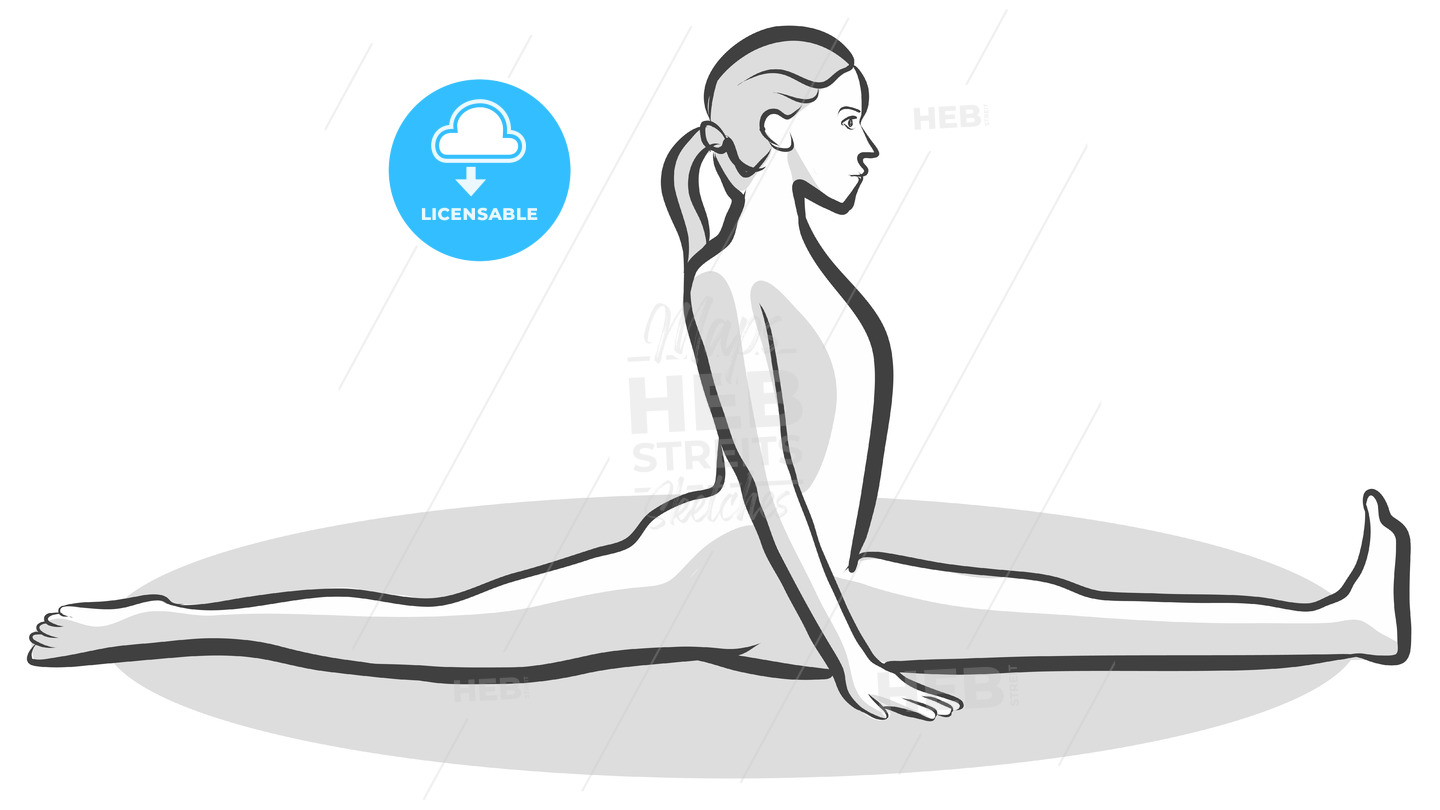 Monkey Hanumanasana Yoga Pose - Hebstreits
