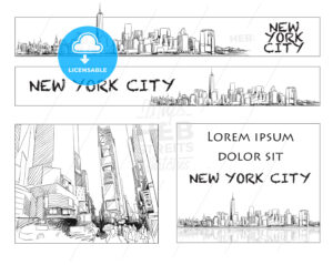 Ney York City Skyline Banner Layout - Hebstreits