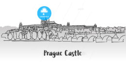 Prague Castle Greeting Card Design