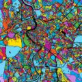 Rome, Italy, Colorful Vector Map on Black - Hebstreits
