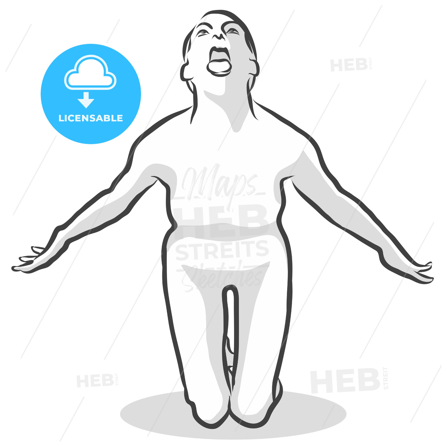 Scary Ghost Boo Simhasana Yoga Pose - Hebstreits
