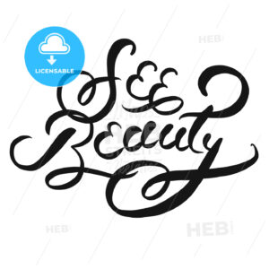 See beauty typographic Lettering Slogan - Hebstreits