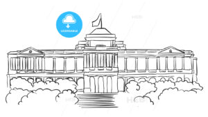 Singapore Istana Presidents residence Sketch - Hebstreits