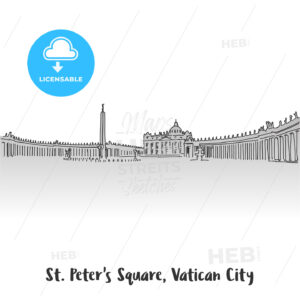 St Peter Square Greeting Card Design - Hebstreits