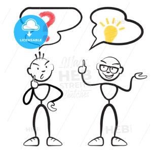 Stick figure questionnaire and idea persona - Hebstreits