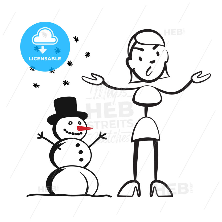 Stick figure woman in winter – what to wear? - Hebstreits