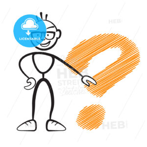 Stickmen with questionmark sign - Hebstreits