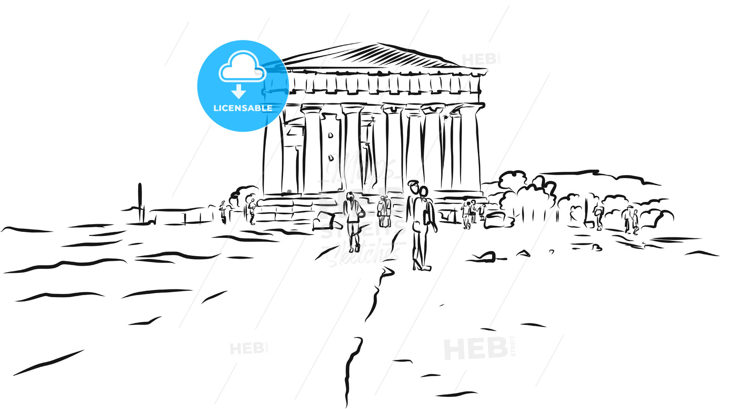Temple of Concordia. Valley of Temples, Agrigento, Sicily. - Hebstreits