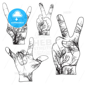 Trees in Hands, Peace, Devil Horn - Hebstreits