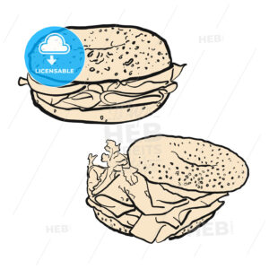 Two bagels, illustration - Hebstreits