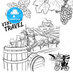 Various Vineyard Travel Concept Sketches - HEBSTREITS