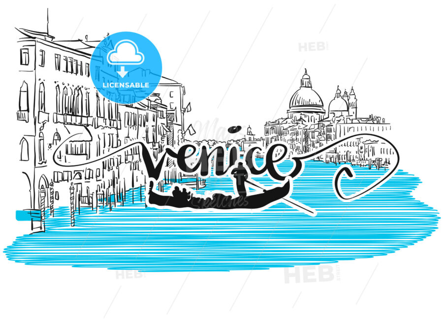 Venice Grand View Greeting Card Design - Hebstreits