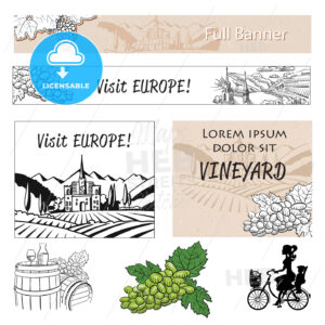 Vineyard Travel Banner Assets and Concept Layout - HEBSTREITS