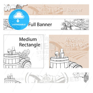 Vineyard Travel Sketch Online Banner Layout - HEBSTREITS