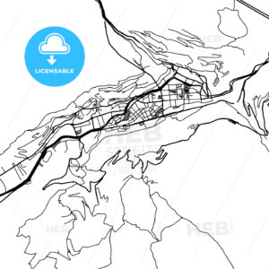 Andorra la Vella Vector Map - HEBSTREIT's Sketches