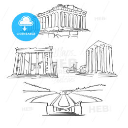 Athens Greece Famous Buildings