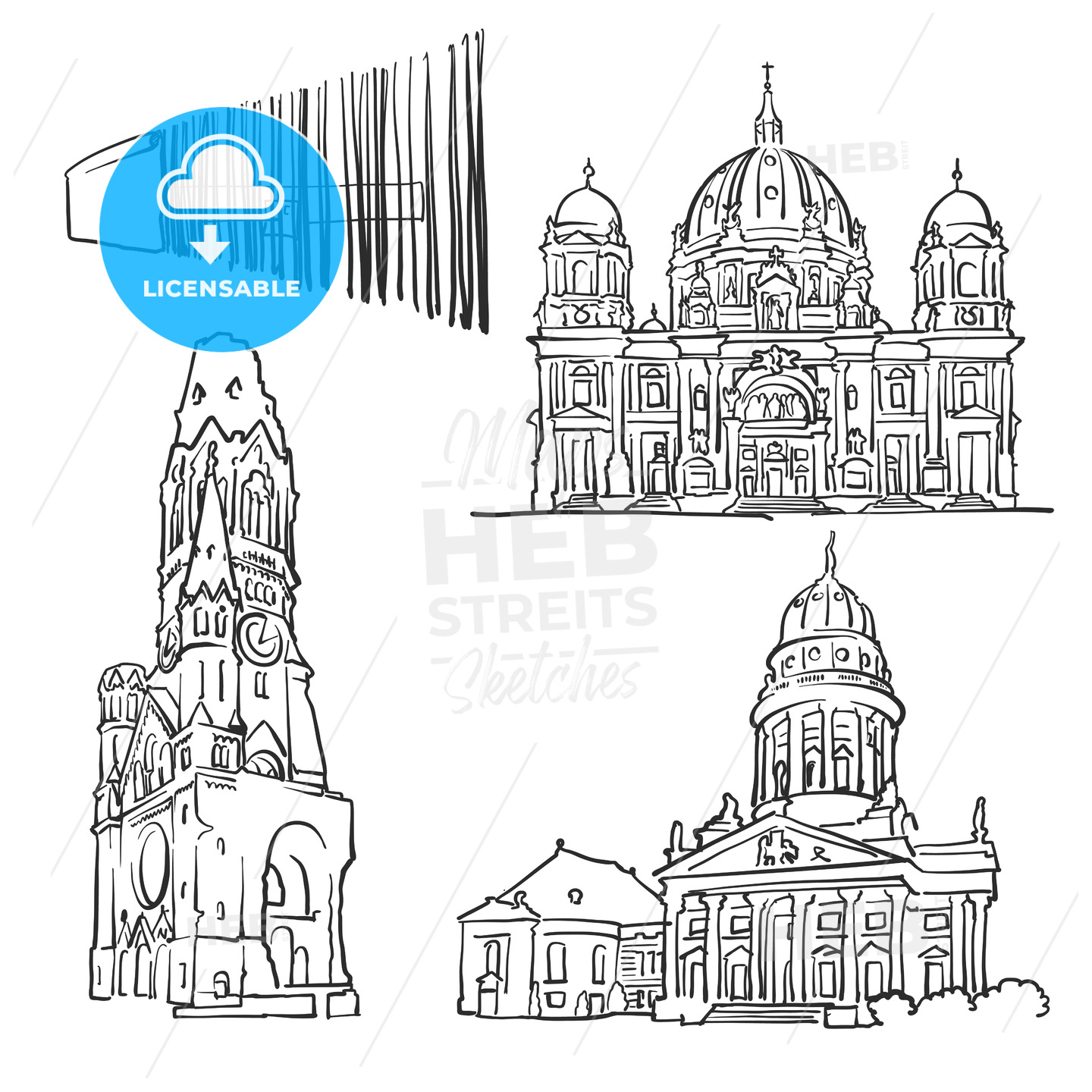 Berlin Germany Famous Buildings - Hebstreits