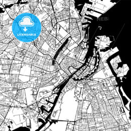 Copenhagen Denmark Vector Map