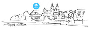 Minsk Belarus Panorama Sketch - Hebstreits
