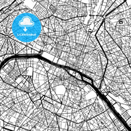 Paris France Vector Map