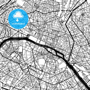 Paris France Vector Map - HEBSTREIT's Sketches