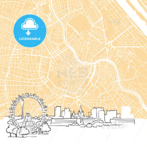 Vienna Austria Background Map - HEBSTREIT's Sketches