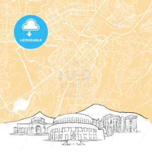 Yerevan Armenia Background Map - HEBSTREIT's Sketches
