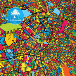 Ankara Turkey Colorful Map