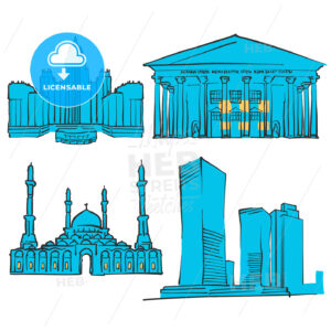 Astana Kazakhstan Colored Landmarks - Hebstreits