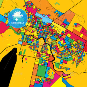 Astana Kazakhstan Colorful Map - HEBSTREIT's Sketches