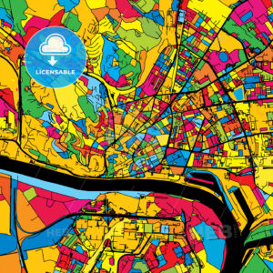 Bratislava Slovakia Colorful Map - HEBSTREIT's Sketches