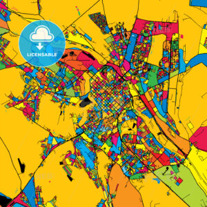 Chisinau Moldova Colorful Map - HEBSTREIT's Sketches