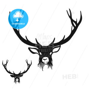 Deer Head Silhouette - Hebstreits