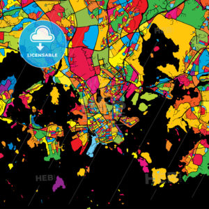 Helsinki Finland Colorful Map - HEBSTREIT's Sketches