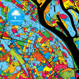 Kyiv Ukraine Colorful Map - HEBSTREIT's Sketches