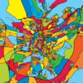 Luxembourg Colorful Map - Hebstreits
