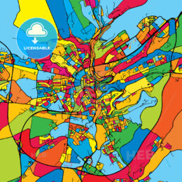 Luxembourg Colorful Map