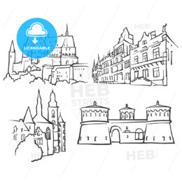 Luxembourg Luxembourg Famous Buildings - Hebstreits