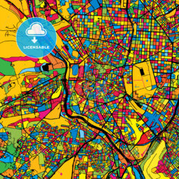 Madrid Spain Colorful Map