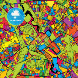 Minsk Belarus Colorful Map