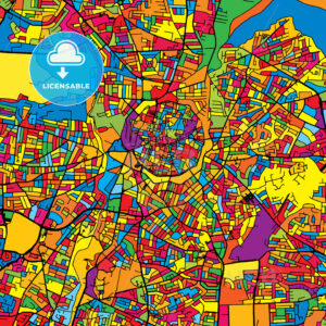 Nicosia Cyprus Colorful Map - HEBSTREIT's Sketches